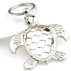 Personality Metal Turtle Charms Pendant Key Chains Silver Fashion Jewelry Creative Animal Keychain -