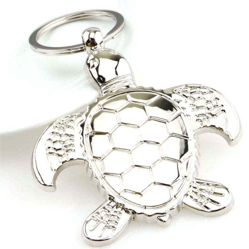 Best Personality Metal Turtle Charms Pendant Key Chains Silver Fashion Jewelry Creative Animal Keychain