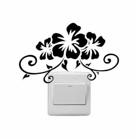 Best DSU Creative Bauhinia Flower Vinyl Switch Sticker Cartoon Plant Wall Sticker Home Decor