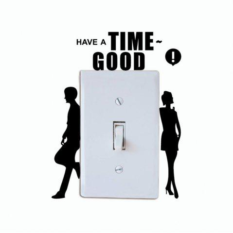 New DSU Creative Backrest Lovers Switch Sticker Lovers Silhouette Vinyl Wall Sticker for Home Decoration