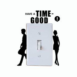 DSU Creative Backrest Lovers Switch Sticker Lovers Silhouette Vinyl Wall Sticker for Home Decoration -