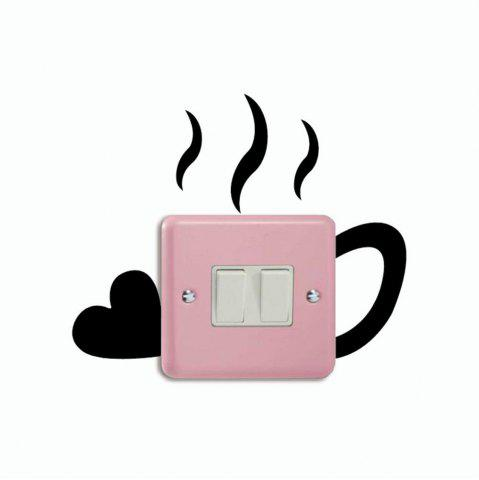 Outfit DSU Creative Love Cup Switch Sticker Funny Cup Silhouette Vinyl Wall Decal