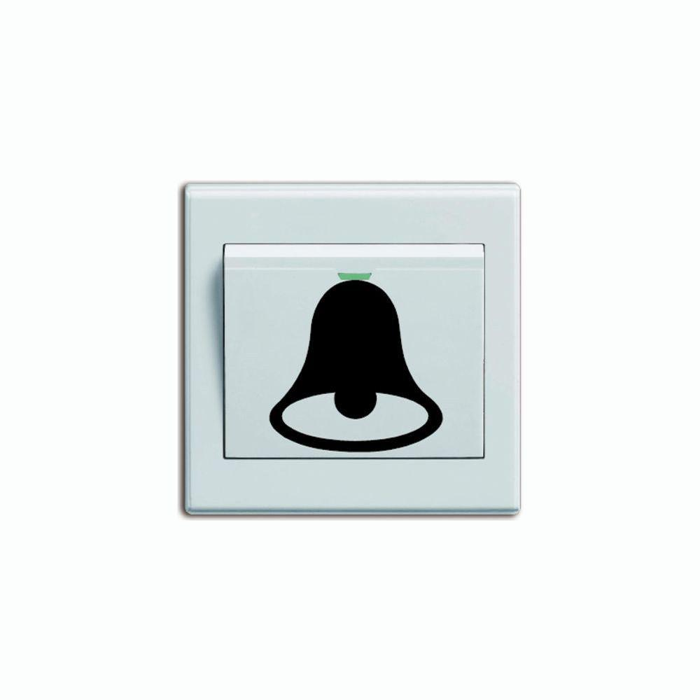 Best DSU Merry Christmas Lovely Doorbell Switch Sticker Creative Cartoon Doorbell Vinyl Wall Decal