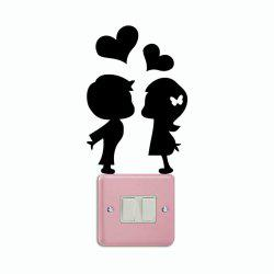DSU Romantic Lover Light Switch Sticker Creative Cartoon Silhouette Vinyl Wall Sticker -