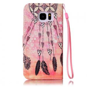 Чехол для Samsung Galaxy S7 Edge Colorful Pattern Leather with Water Drill -