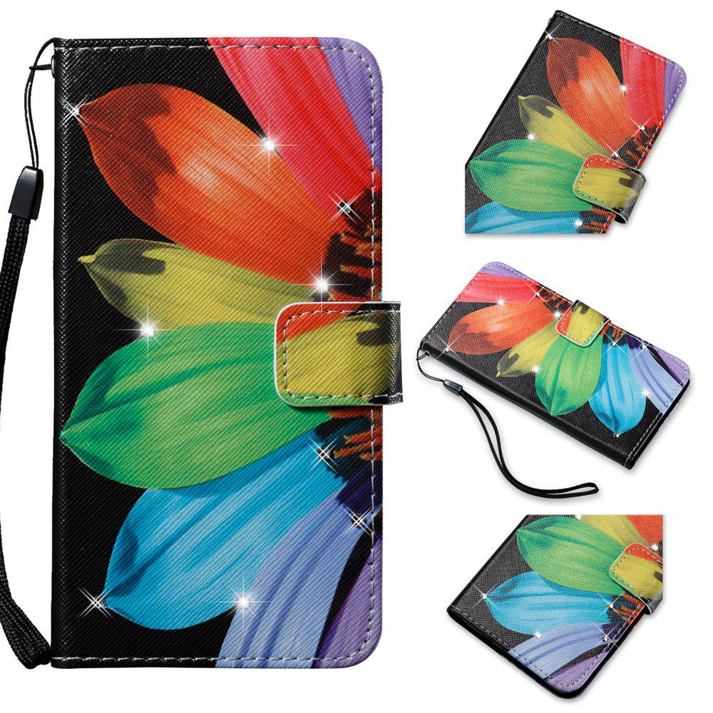 Чехол для Sony XA Colorful Pattern Leather with Water Drill