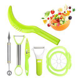 6-in-1 Fruit Carving Tool Set - Watermelon Slicer Melon Baller Scoop Fruit Carver Apple Corer Peeler Knife -