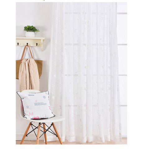 Best High Grade Embroidered Window Yarn Pastoral White Gauze 140cmx265cm