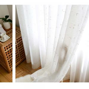 Curtain  White  Pure Linen Yarn -