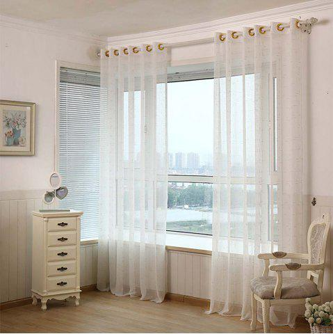 Store Curtain  White  Pure Linen Yarn