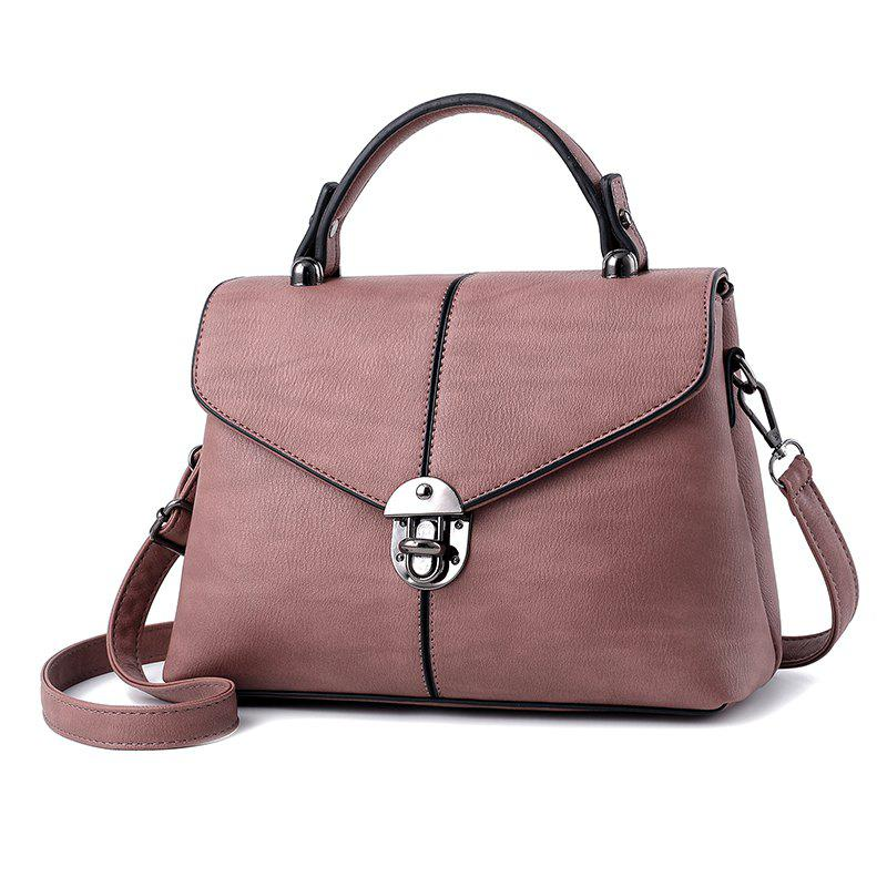 Chic Women's Handbag Fresh Style Solid Color Zipper Elegant Bag