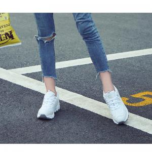 2018 New Style Fashion Round Toe Pure Color Antiskid Rubber Sole Sports Shoes -