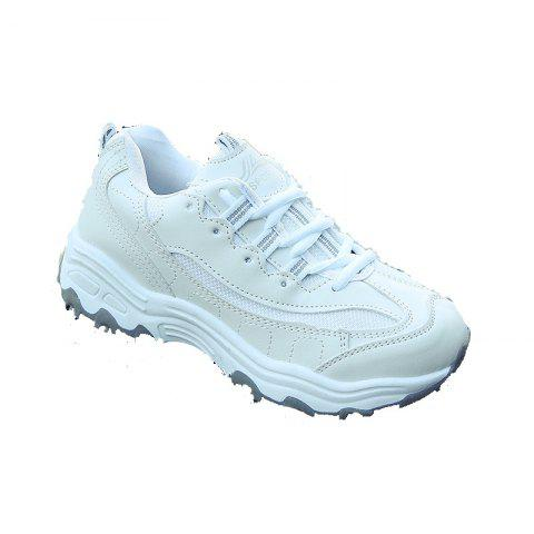 Trendy 2018 New Style Fashion Round Toe Pure Color Antiskid Rubber Sole Sports Shoes