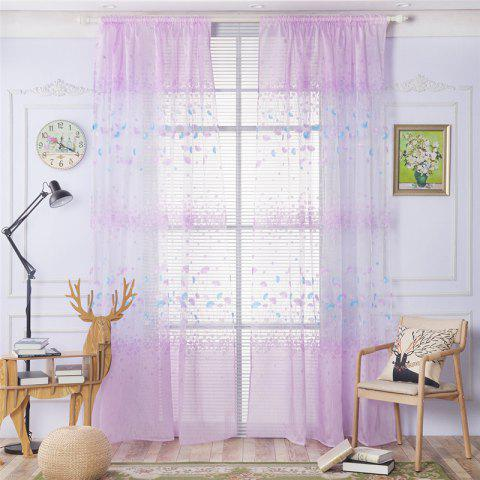 Best 2pcs 100cm x 250cm Classic Elegant Fashion Ginkgo Leaves Floral Printed Fresh Pastoral Style Curtains