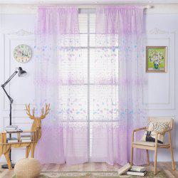 2pcs 100cm x 250cm Classic Elegant Fashion Ginkgo Leaves Floral Printed Fresh Pastoral Style Curtains -