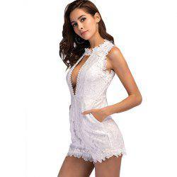 Women's Sexy Stitching Lace Casual Beach Jumpsuit -
