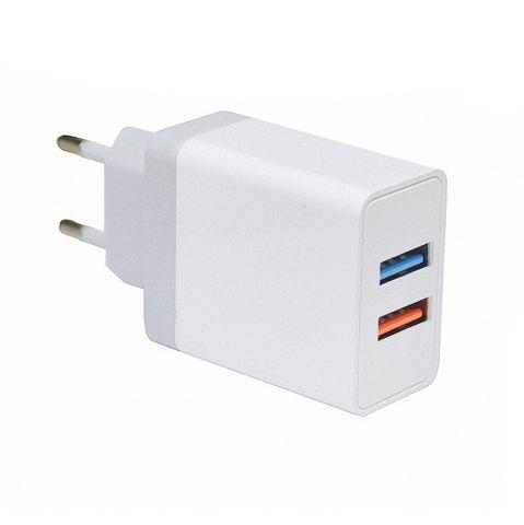 Store Minismile 5V 2.4A Universal Fast Charge Dual USB Port Home USB Power Travel Charger Wall Adapter