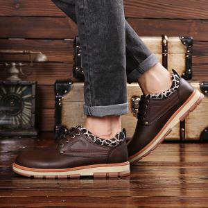 Casual Lace Up Workers Fashion Shoes -