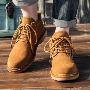 Men Classical Lace Up Outdoor Worker Boots -