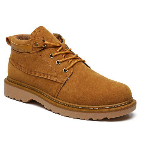 New Classical Low Top Lace-up Boots for Men