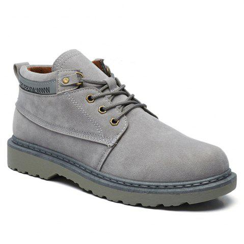 Trendy Classical Low Top Lace-up Boots for Men