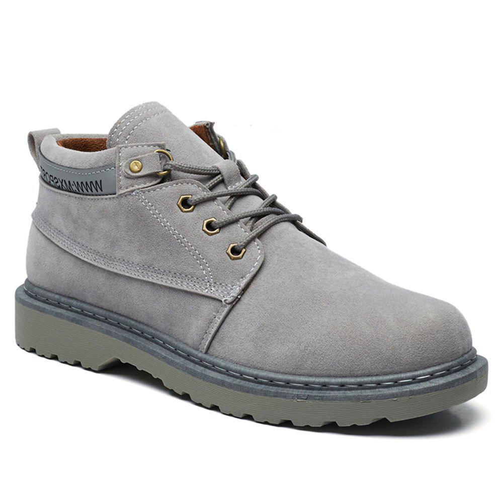 Affordable Classical Low Top Lace-up Boots for Men