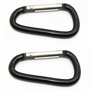Outdoors Aluminium Alloy Multi-function Type D Buckle 2pcs -