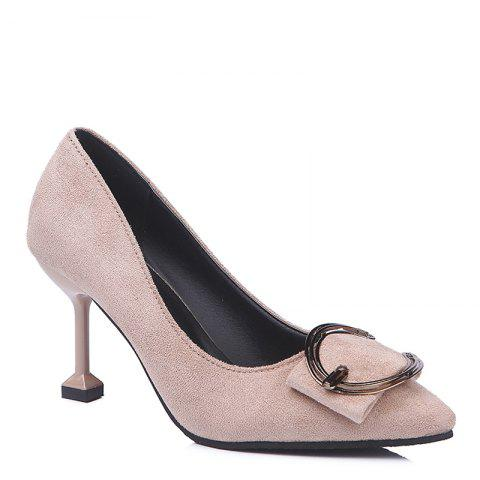 Sale 2018 New All-match Pointed Stiletto Suede Asakuchi Shoes