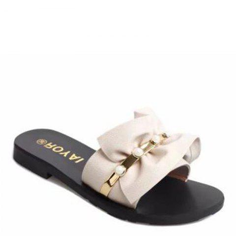 Latest Pearl Flat Non-slip Sweet Female Fashion Slippers