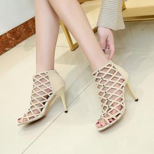 Hollow Out Fashion Sexy Stiletto Sandals with Fish Mouth -