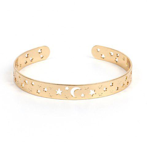 Outfit Openwork Star Opening Copper Bracelet Natural Jewelry
