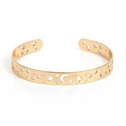 Openwork Star Opening Copper Bracelet Natural Jewelry -