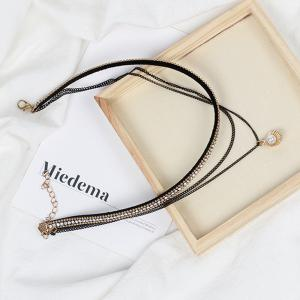 Full of Korean Velvet Necklace Multi-layer Chain Shell Choker Jewelry -