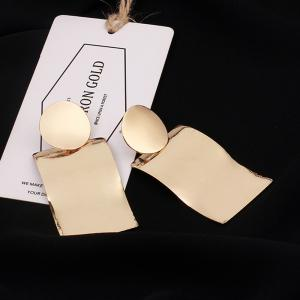 2018 New Irregular Geometric Glossy Exaggerated Wave Shape Earrings Personalized Punk Jewelry -