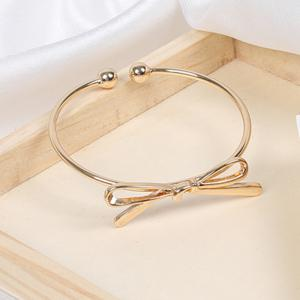 Bow Open Female Bracelet Wild Personality Simple Copper Knotted Accessories -