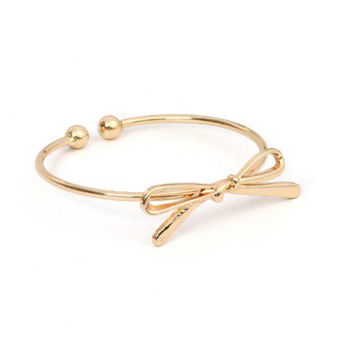 Shops Bow Open Female Bracelet Wild Personality Simple Copper Knotted Accessories