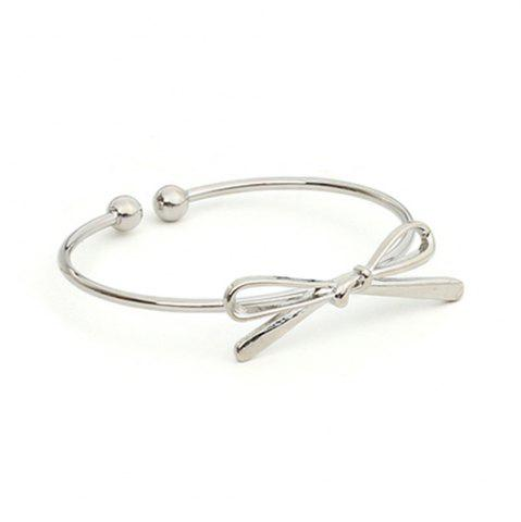 Online Bow Open Female Bracelet Wild Personality Simple Copper Knotted Accessories