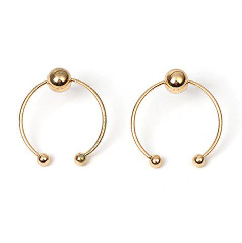 Discount Smooth Bead Simple Geometric Half-circle Girls Heart Earrings