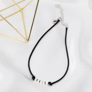 Wax Rope Necklace Creative Short Choker Clavicle Sweet Fresh Girls Heart Jewelry -