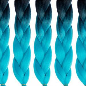 5pcs 2 Tone Ombre Jumbo Braiding 24 inch Crochet Braids High Temperature Kanekalon Synthetic Fiber Twist -