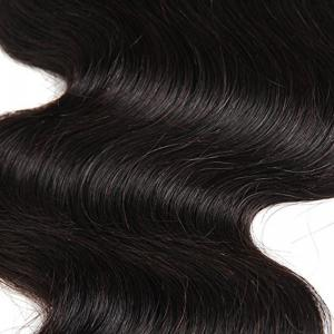 Middle Part Full Lace Front Top Closure Soft Brazilian Body Wave Natural Hair 12 inch -