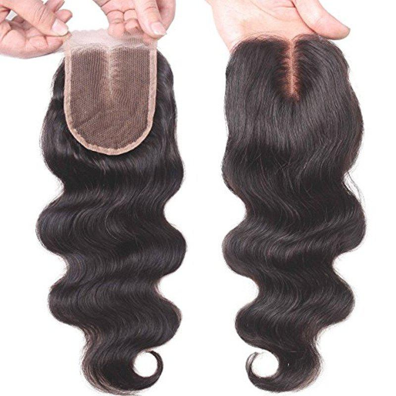Unique Brazilian Virgin Hair Body Wave Middle Part 4 x 4 Full Front Top Lace Closure