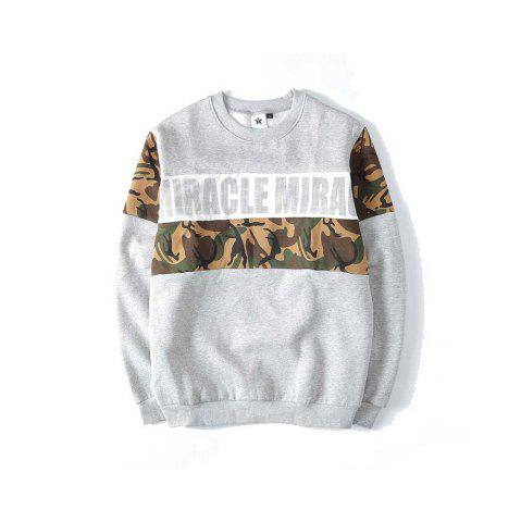 Fashion Men's Sweatshirt Letter Printing Casual Sweatshirt