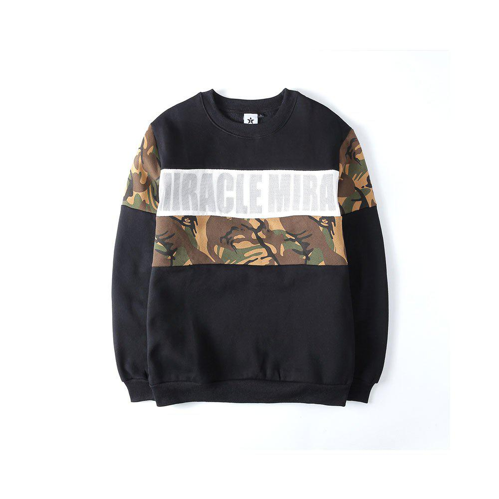 Unique Men's Sweatshirt Letter Printing Casual Sweatshirt