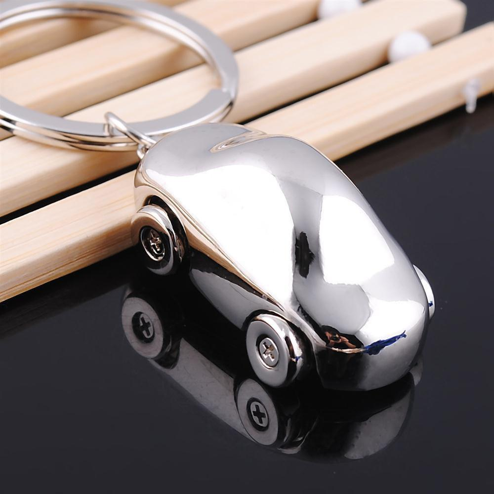 Silver White 3d Simulation Of The Classic Car Keychain Creative Gift ...
