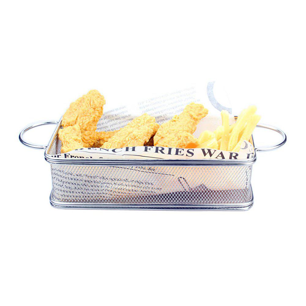 Hot BBQ Bread Basket Fries Fried Chicken Fried Basket Stainless Steel Frying Basket Small Pastry Food