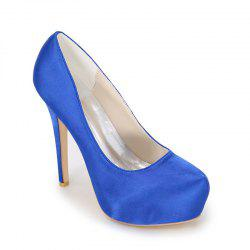 Fashion High Heel Waterproof Platform Wedding Shoes -