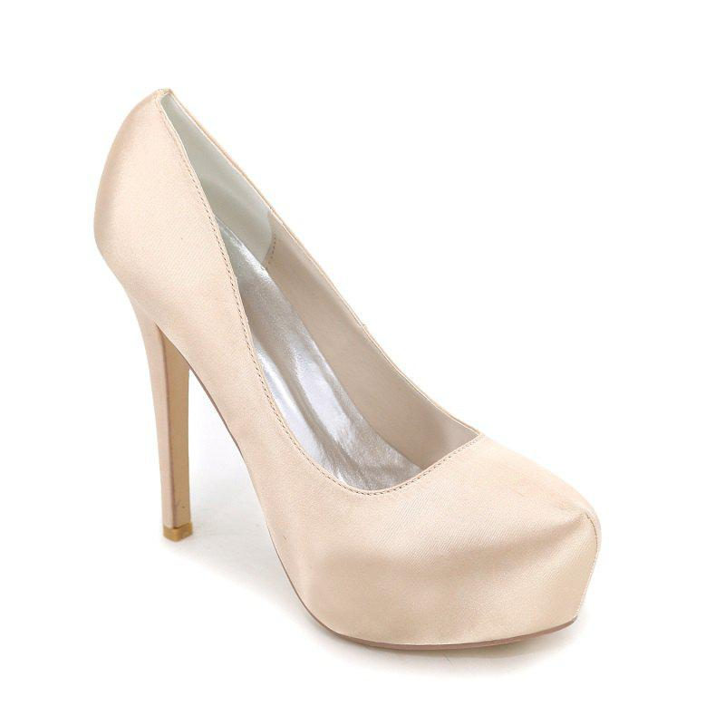 Online Fashion High Heel Waterproof Platform Wedding Shoes