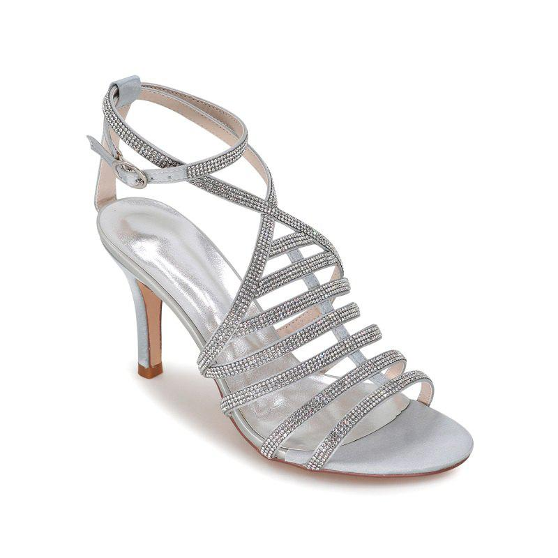 Chic High Heel Drill Sandal Wedding Shoes