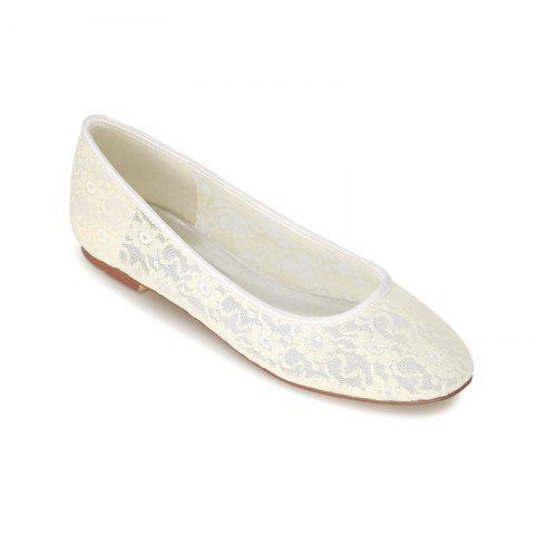 Affordable Flat Lace Wedding Shoes